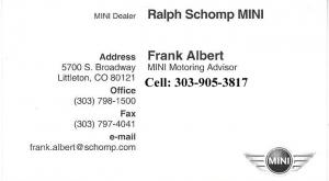 Ralph Schomp MINI, Rocky Mountain Jaguar Club