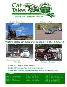 October 2014 Cat Tales, Rocky Mountain Jaguar Club